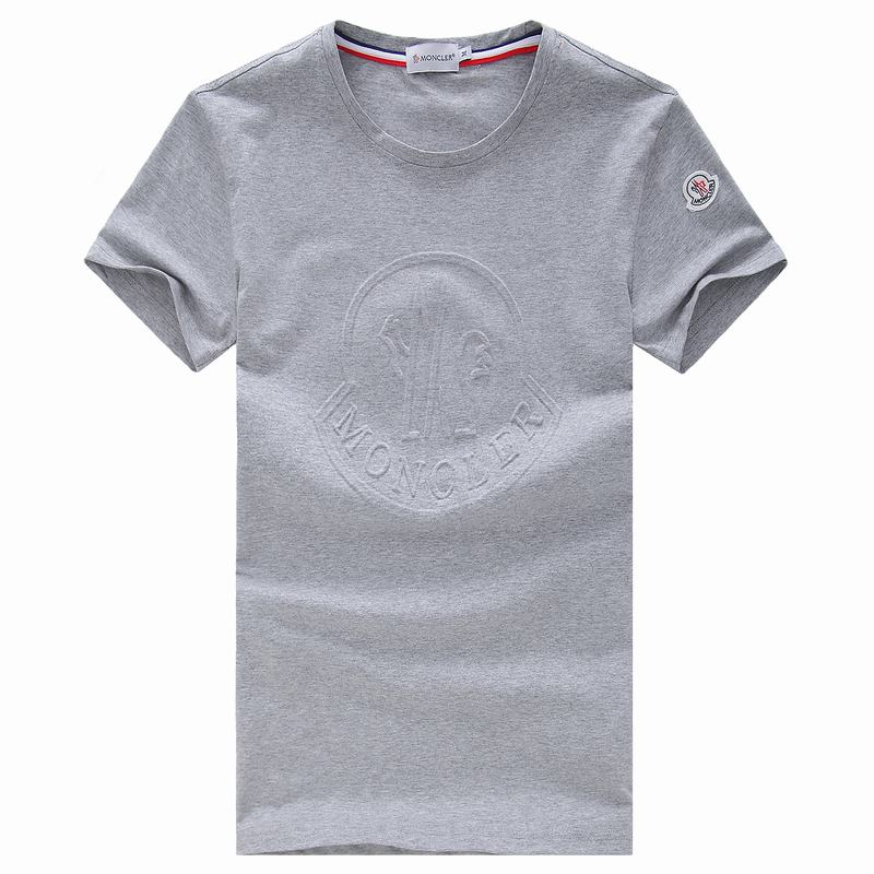 2018 Moncler New Italy Silk Cotton Limited T Shirt Stamping LOGO Grey